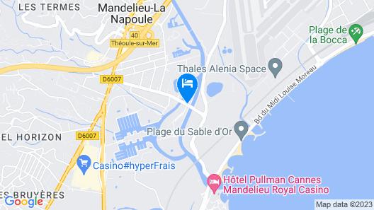 Comfort Suites Cannes Mandelieu Map