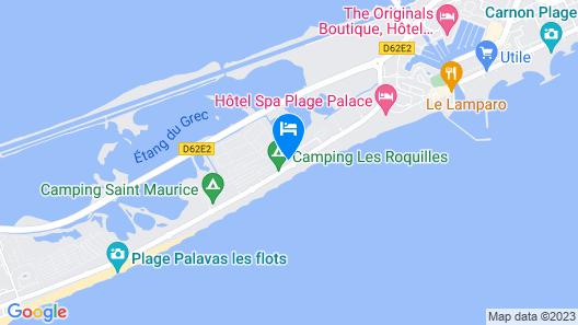 Hotel & Appartements Le Grand Large bord de mer Map