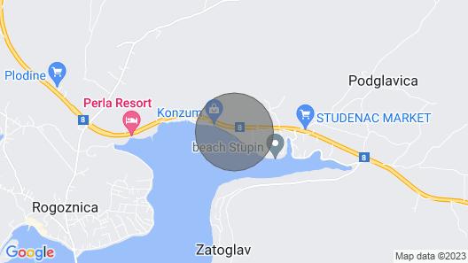 Beachfront Villa Lady Anne - Rogoznica Map