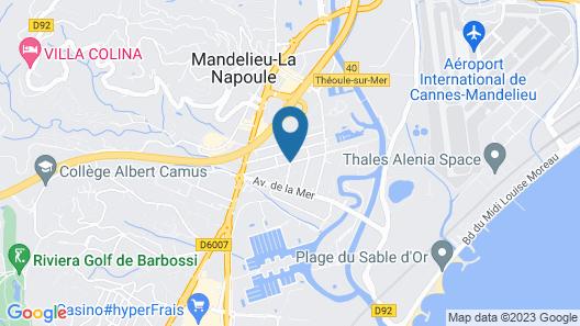 Pierre & Vacances Résidence Les Jardins Ombragés Map
