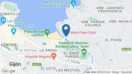 Abba Playa Gijon hotel 4*Superior Map