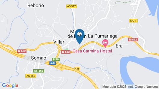 Cozy House in Muros de Nalón Map