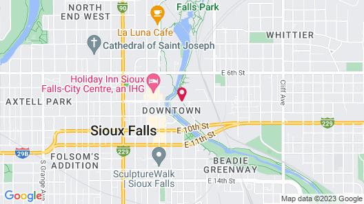 Hilton Garden Inn Sioux Falls Downtown Map