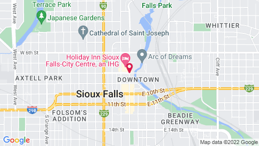 Holiday Inn Sioux Falls-City Centre Map
