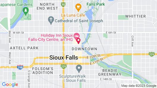 Holiday Inn Sioux Falls-City Centre, an IHG Hotel Map