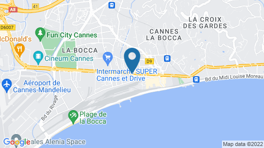 ResidHotel Cannes Festival Map