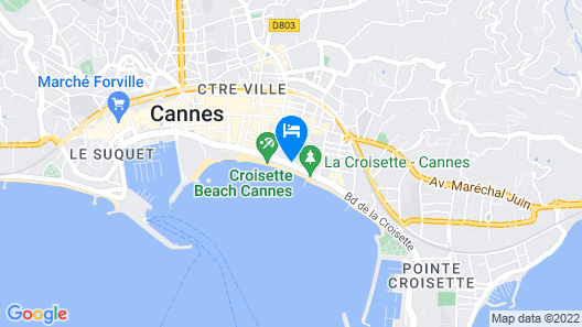 JW Marriott Cannes Map