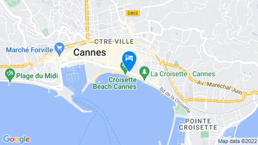 Le Grand Hotel Cannes Map