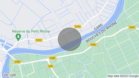 The cottage Côté Rhône. Map