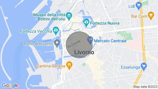 Wohnung mit Blick auf den Dom an der Piazza Grande in Livorno Map