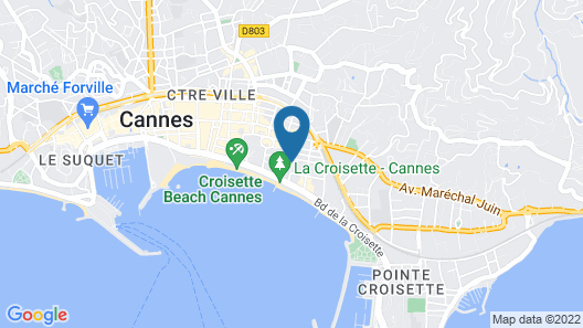 Hotel Croisette Beach Cannes - MGallery Map