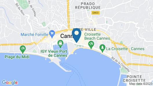 Hôtel Barrière Le Majestic Cannes Map