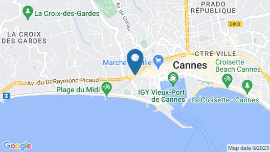 Hôtel de l'Olivier Map