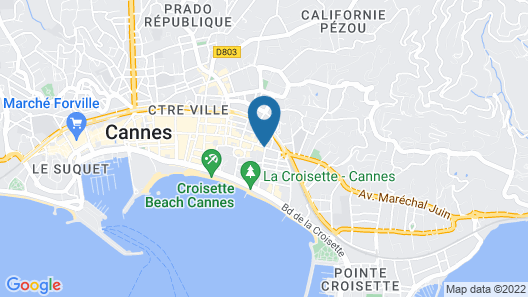 Eden Hôtel & Spa Cannes Map