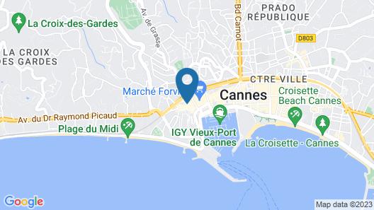 Chanteclair Hotel Map