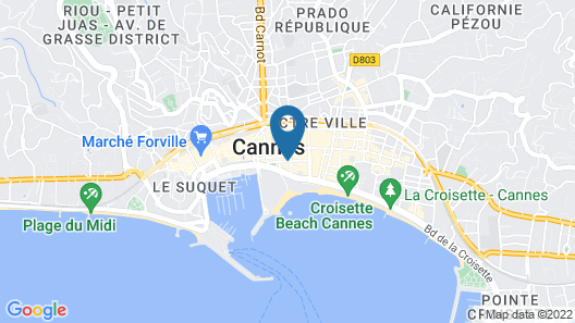 Five Seas Hotel Cannes Map
