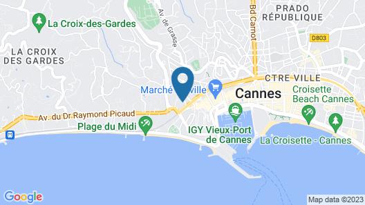 The Originals Boutique, Hôtel des Orangers, Cannes (Inter-Hotel) Map