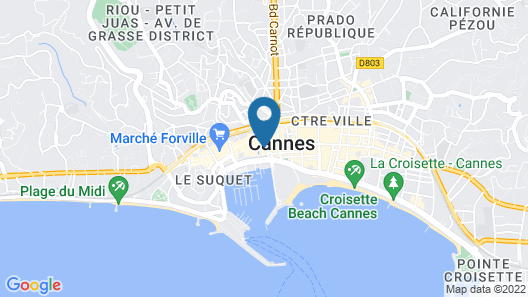 Hotel Splendid Cannes Map