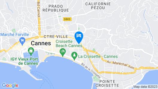Best Western Plus Le Patio des Artistes Map