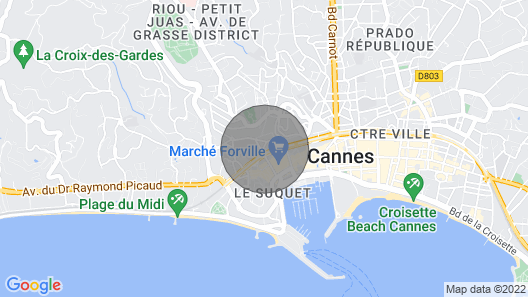 5 Rooms Charming 90 M² 4 Bedrooms Cannes Centre Map
