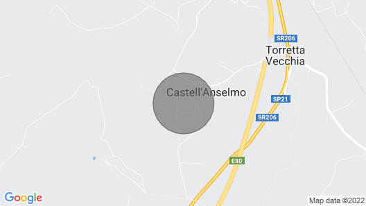 La Casetta di Castell'Anselmo, ich Gelsi Map