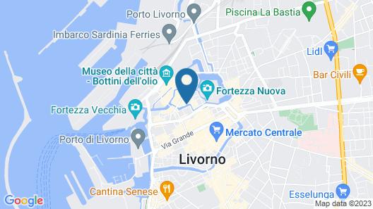 Das Toskanische Klein-venedig, Mitten im Historischen und Trendigen Viertel von Livorno Map