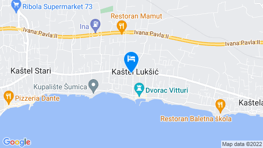 Guesthouse Varnica Map