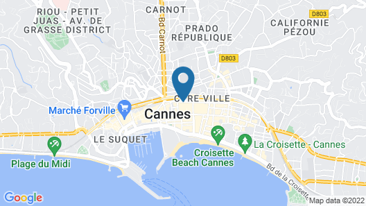 OKKO Hotels Cannes Centre Map