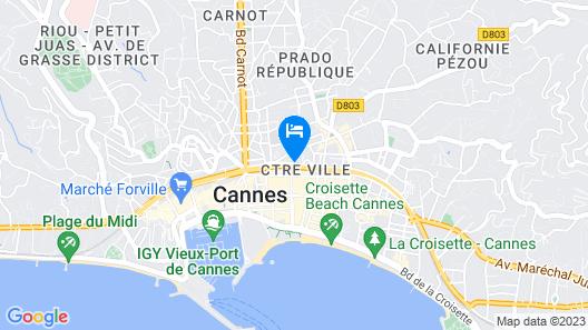 Best Western Plus Cannes Riviera Hotel & Spa Map