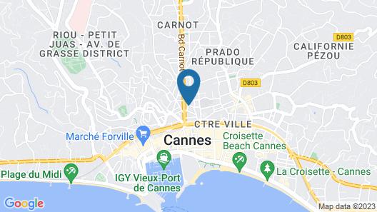 Nemea Appart Hotel Cannes Palais Map