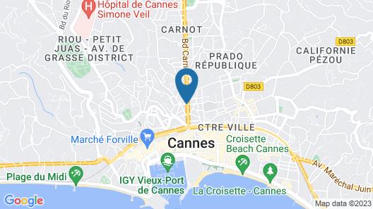 Citadines Croisette Cannes Map