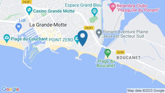Hôtel Thalasso les Corallines Map