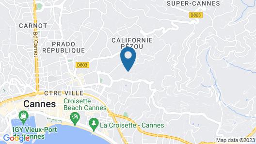 La Bastide de l'Oliveraie Map