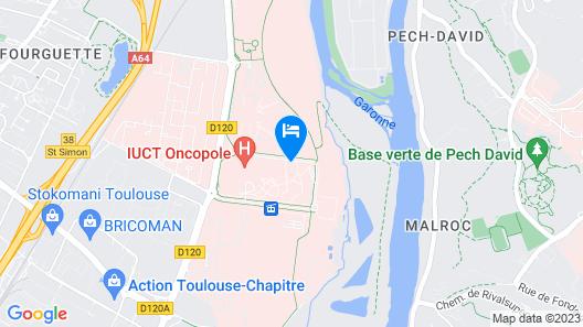 Zenitude Hotel-Residences Toulouse Fluvia Map