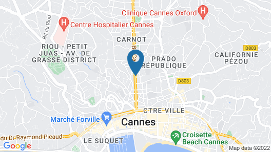 Novotel Suites Cannes Centre Map