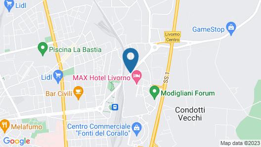 Max Hotel Livorno Map