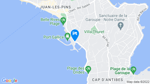 Cap d Antibes Beach Hotel Map