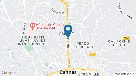 Hotel Amarante Cannes Map