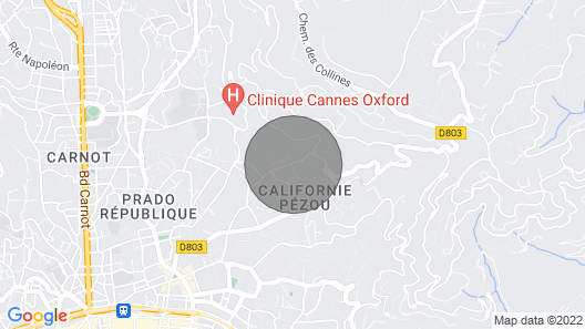 CANNES–CASTELLINO SUITE, SELF-CATERING HSE, NEAR THE CTR, ABSOLUTE CALM–TERRACES Map