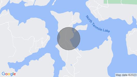 Paradise Cabin on Tenmile Lake Map