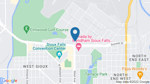 Super 8 by Wyndham Sioux Falls Convention Center Map