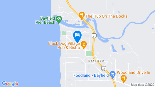 Lake House of Bayfield Map
