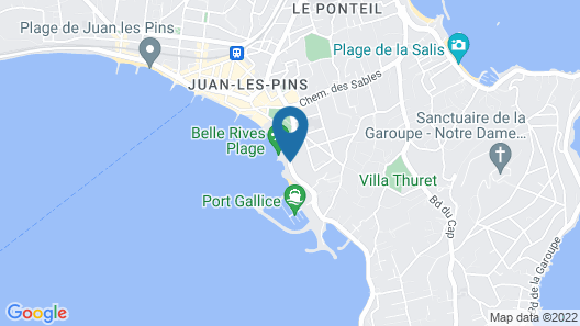 Hotel Belles Rives Map