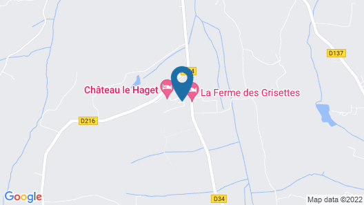 Chateau Le Haget - Campground Map