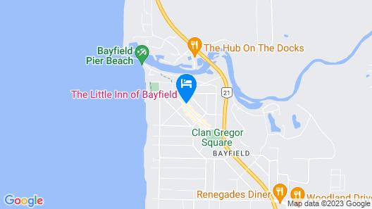 The Little Inn of Bayfield Map