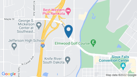 Motel 6 Sioux Falls, SD Map