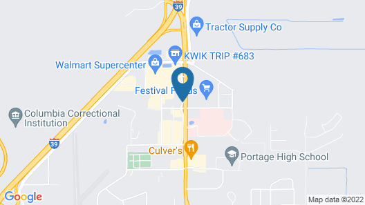 The Ridge Hotel Portage Map