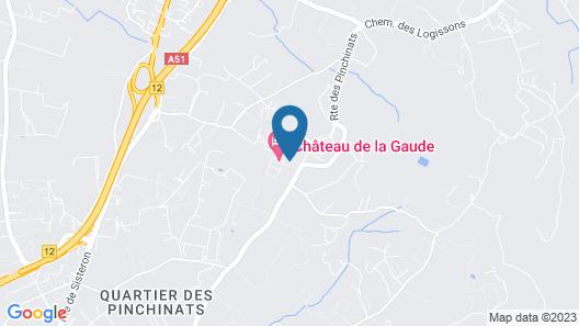 Chateau de la Gaude Map