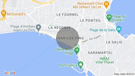 Antibes Juan Les Pins: Excelente Apartamento Industrial Para Decoração de Loft Map