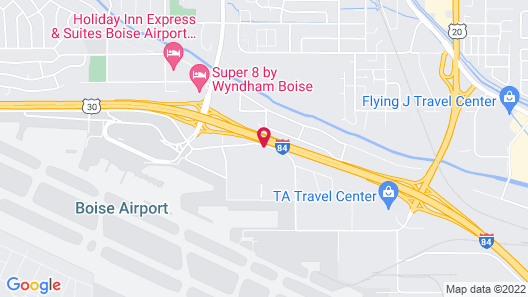 Motel 6 Boise, ID - Airport Map